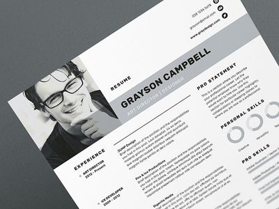 Resume Cv Anderson Resume Design Creative Resume Resume Design