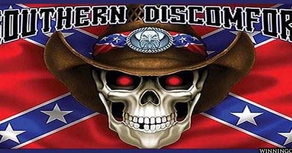 U Aint My Daddy rebel flag with skulls...