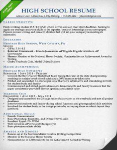 High School Resume Sample High School Resume High School Resume