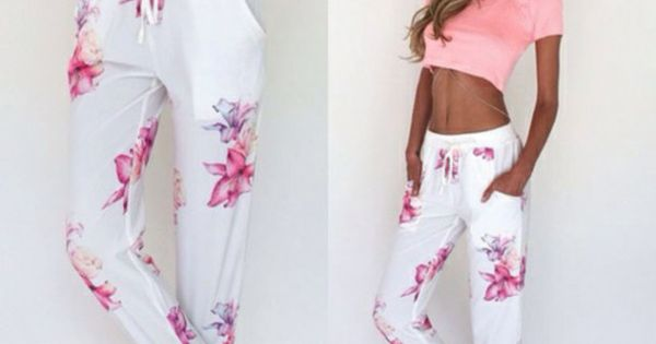 Tropical Garden Pants Sabo Skirt Ropa Pantalon Dama Outfits