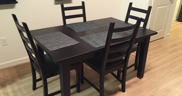 Ikea stornas table and chairs kitchen pinterest for Ikea stornas table