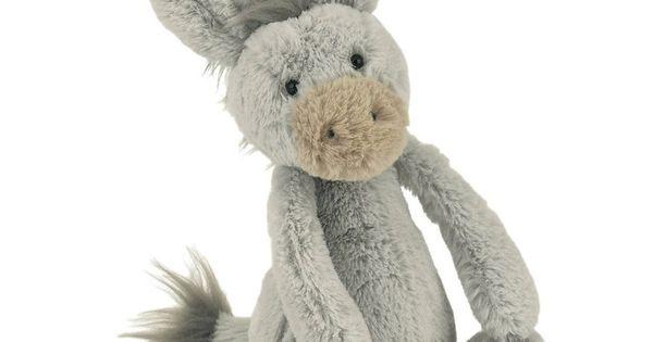 """Jellycat Small Bashful Donkey 7"""" Plush Stuffed Animal From"""