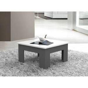 Table Basse Finlandek Table Basse Pilvi 75x75 Cm Blanc Et Gris Table Basse Petite Table Basse Design Table Basse Grise