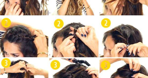 3 Headband Braid Hairstyles | Cute Half Updo Hair Style