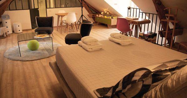 suite parentale sous les combles d co sous les toits pinterest suite master les combles. Black Bedroom Furniture Sets. Home Design Ideas