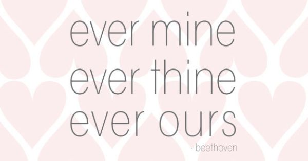 ever mine ever thine ever ours