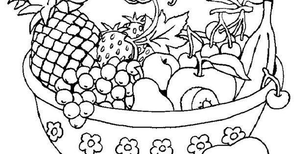 Meyve Sepeti Boyama Sayfalari Boyama Sayfalari Boyama Kitaplari Meyve