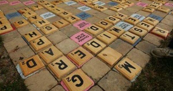 Backyard Scrabble Yard Scrabble Backyard Outdoor Patio Diy