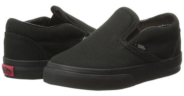 black vans slip on kids