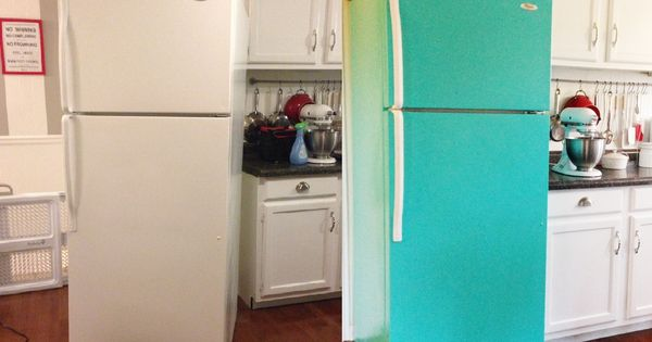 DIY Painted Refrigerator Looking to do this for most of my appliances.