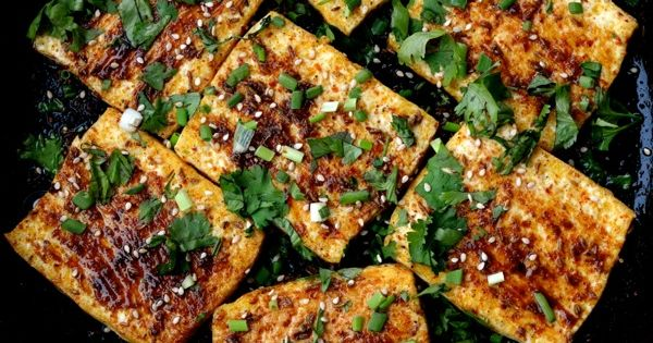 """Spicy Griddled Tofu """"Steaks"""""""
