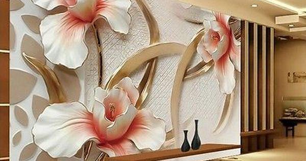 3d Wallpaper Bedroom Mural Roll Modern Lily Flower Large Wall Background Home 3d Wallpaper For Walls Mural Wall Wallpaper