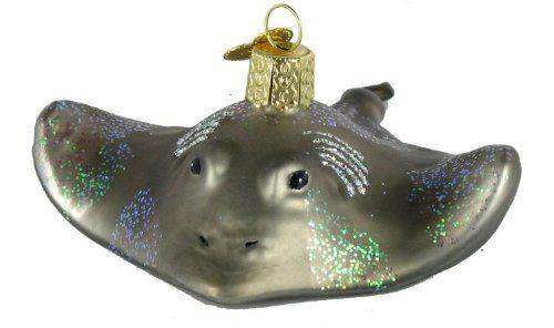 Old World Christmas Shark Glass Blown Ornament
