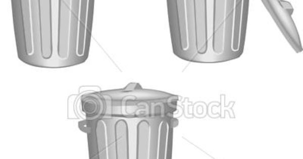 Vector Clip Art Of Trash Can Csp5772651 Search Clipart Illustration Drawings And Eps Vector Graphics Images Canning Art Icon Clip Art