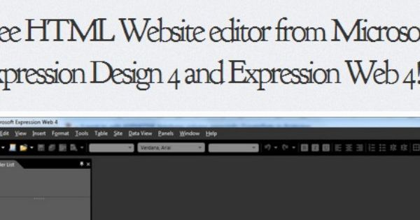 Free Download Microsoft Expression Design 4 Web 4 Expressions Web Design Software Design