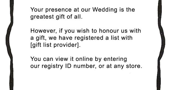 Who Do You Give Gifts To At Your Wedding: Your Presence At Our Wedding Is The Greatest Gift Of All
