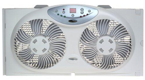 Bionaire Twin Reversible Airflow Window Fan With Remote Control Window Fans Ceiling Exhaust Fan Exhaust Fan Kitchen