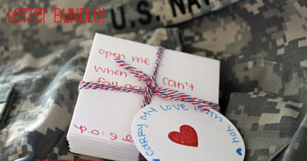 """Carry My Love With You"" pre-deployment note bundle to send with your"
