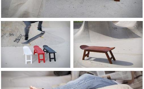 build your own skateboard deck chair bench awesome diy projects dad pinterest skateboard. Black Bedroom Furniture Sets. Home Design Ideas