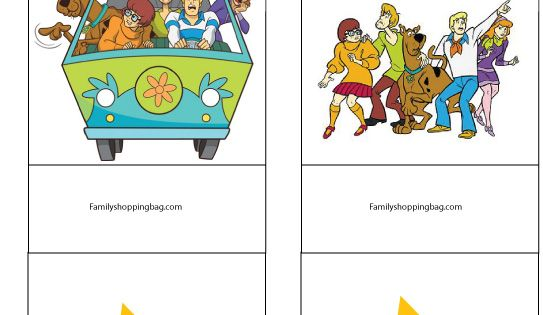 Scooby party candy bag holders printables pinterest for Scooby doo cake template