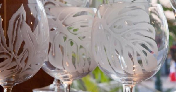 Etched Glass Hawaii Glassware Pinterest Glass
