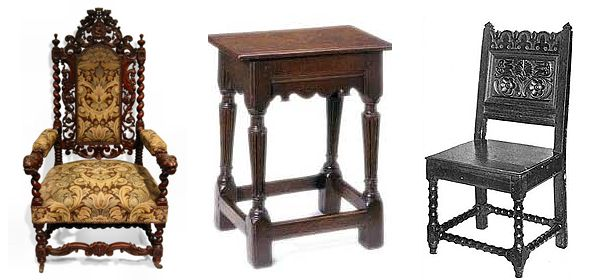 jacobean Jacobean furniture, during the era of Oliver ...