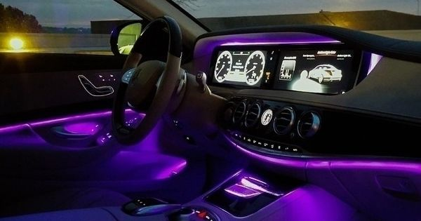 A network of hundreds of leds and fiber optics can create not just a soothing ambience in the for Car interior led lighting multicolor