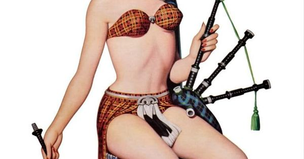 Sexy vintage posters of redheads