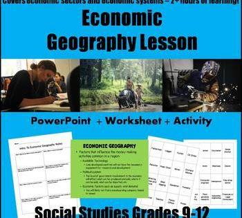 Economic Geography Lesson Economic Geography Geography Lessons Geography Lesson Plans