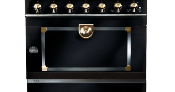 la cornue cornuf 1908 stove matte black brass where. Black Bedroom Furniture Sets. Home Design Ideas