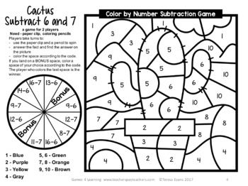 Pin By Kim Twogood On Clasa 1 Number Games Subtraction Subtraction Facts