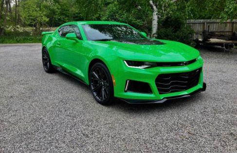 Chevrolet Camaro Zl1 Painted In Krypton Green Photo Taken By
