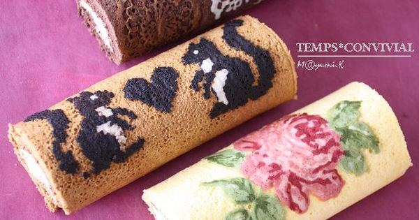 Cake Roll Art : art of roll cake Foods Pinterest Roll cakes and Cake