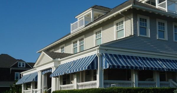 Wrap Around Porch Awnings Ideas Porch Shading Options Retractable Awnings Blue White Porch Awning Residential Awnings Porch Windows