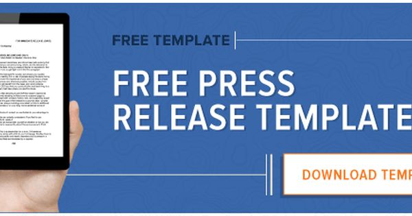 how to write a press release template pdf