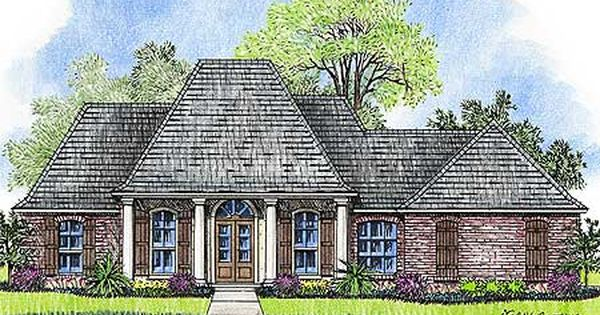 Plan 14181kb Beautiful Acadian With Welcoming Porch