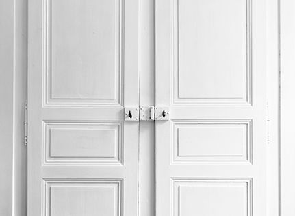 Papier peint Trompe loeil Double porte  Deco  Pinterest  Simple et ...