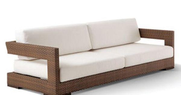 Sofa Reto Vazado Com Almofadas Soltas Sof Pinterest