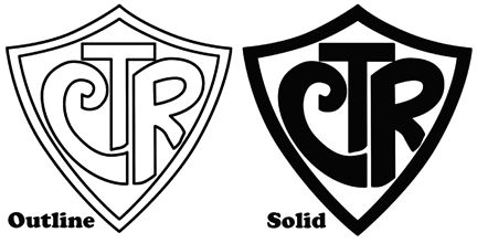 A Black And White Illustration Of The Ctr Symbol Ctr Shield