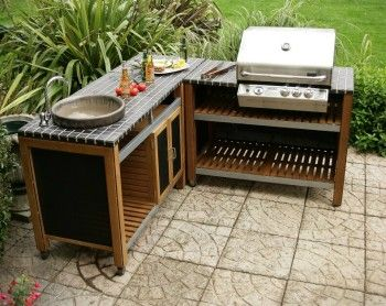 Outdoor Kitchen Special Set Sink Unit Barbecue Unit With Bbq And Square Unit Outdoor Kitchen Outdoor Sinks Outdoor Grill Area