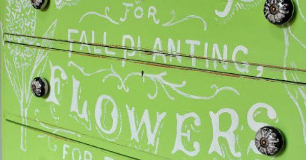 Flower Ad Dresser... fresh and green