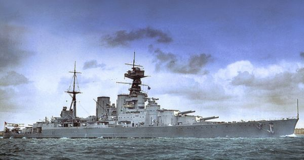 Hms Hood In Colour With Images Hms Hood Warship Battleship