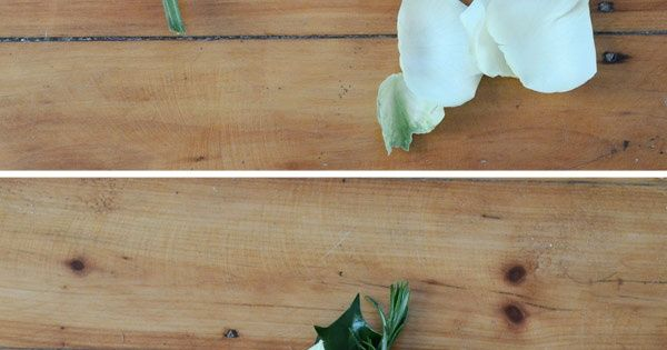 DIY Boutonniere – Super Simple Wedding DIY Floral Project wedding diy
