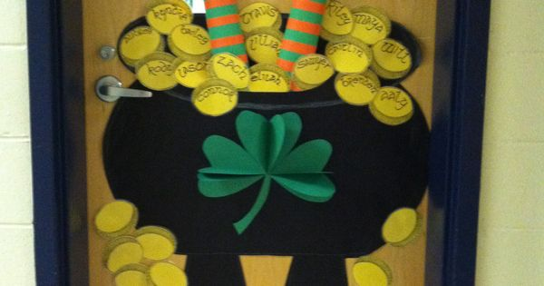 Halloween Decorations Classroom Door ~ Happy st patrick s day class door school pinterest