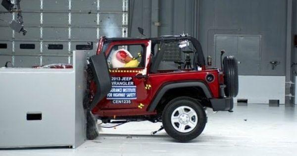 2013 Jeep Wrangler 2 Door Small Overlap Iihs Crash Test 2013 Jeep Wrangler 2013 Jeep Jeep Wrangler