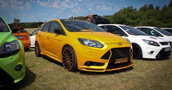 yellow ford focus st mk3 tuning ford focus st tuning pinterest autos motorr der und kaufen. Black Bedroom Furniture Sets. Home Design Ideas
