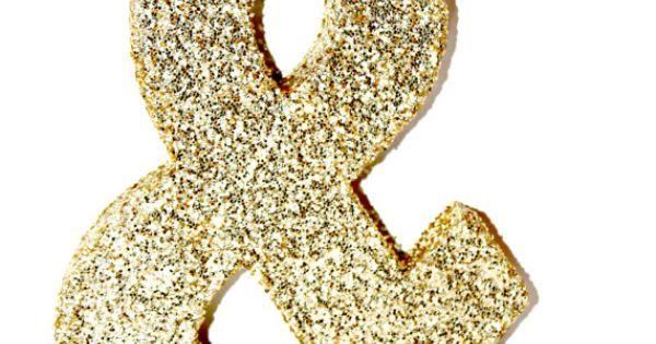Glitter letter monogram decoration gold a z cardboard for Glitter cardboard letters