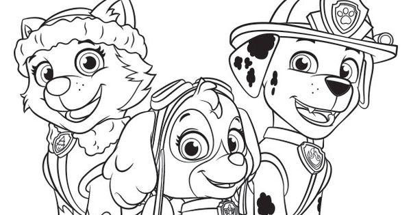 Coloriages Pat' Patrouille #pawpatrol #patpatrouille #dessinanimé #coloriage #activité #enfants