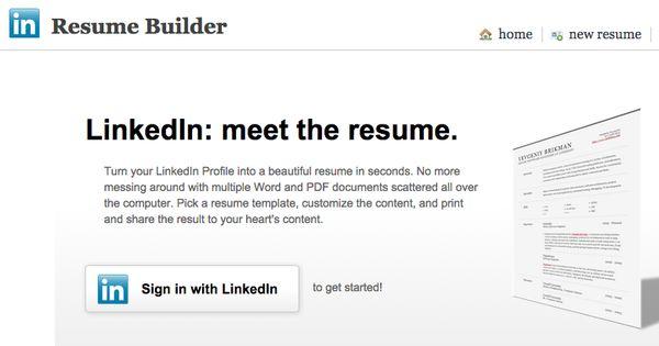 LinkedIn Resume Generator Turn your LinkedIn Profile into a - resume linked in