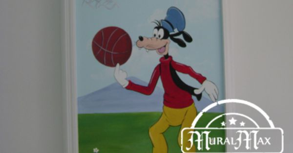 Mickey mouse club house kids room mural goofy murals for Club joven mural